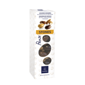 Boite Stones – Amandes enrobées 205g
